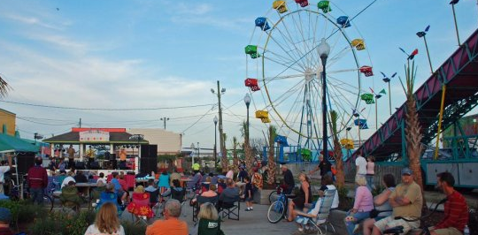 Family Night At The Carolina Beach Boardwalk