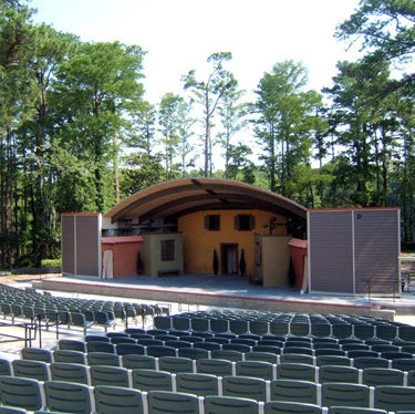The Hugh Morton Amphitheatre at Greenfield Lake in Wilmington NC