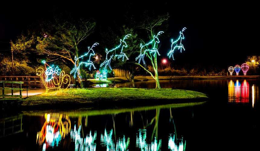 Island of Lights Lighting at the Lake